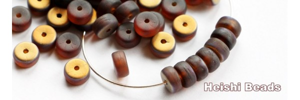 heishi beads 6x3mm