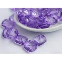 13mm Slīpets Rombs Violets, 10 gab.