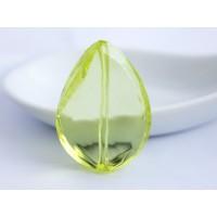 38x26mm Slīpēta pērle Lāsīte Citron Zaļa 1 gab.