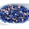 4mm UP Apaļa Matte Cobalt Blue Copper 50gab.
