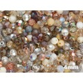 4mm UP Apaļa White Crystal MIX 100gab.