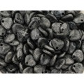 8x7mm Flower Petal Etched Antique Black 30gab.
