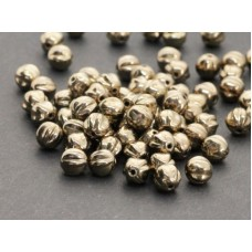 6mm Apaļa Melon Beads Gold Bronze 30gab.