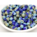 6mm Apaļa Melon Beads Mix Beige Blue 30gab.