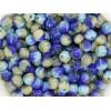 6mm Apaļa Melon Beads Mix Beige Blue 30gab.