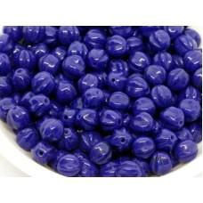 6mm Apaļa Melon Beads Navy Blue 30gab.