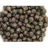 6mm Apaļa Melon Beads Green Picasso 30gab.