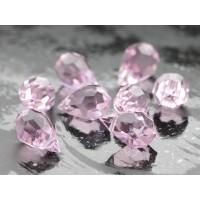9x15mm Preciosa Kristāla Piekariņš Lāsīte Pink Sapphire 1gab.