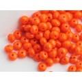 3x5mm FP Rondelle Orange 50pcs