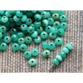 3x5mm UP Rondo Milky Aqua Green Picasso 50gab.