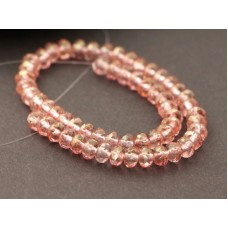 3x5mm UP Rondo Crystal Gold Pink 50gab.