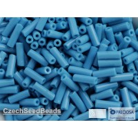 7mm Trubiņas Opaque Turquoise Blue (25g)