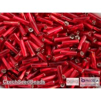 7mm Twisted Trubiņas Ruby Red ar spoguli (25g)