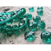 8x10mm Rondelle Emerald Green 10gab.