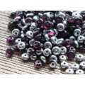 4x2mm Disks Dark Amethyst Silver 100gab.