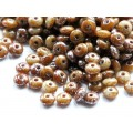 4x2mm Rondo Ivory Brown silver 100gab.