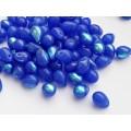 5x7mm Čehu stikla lāsītes Blue Rainbow 25gab.