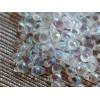 4x6mm Čehu stikla lāsītes Caurspīdīgs varavīksne 50gab.