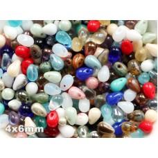 4x6mm Čehu stikla lāsītes Mixed Color 50gab.