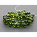 5x7mm Čehu stikla lāsītes Olivine Green 25gab.