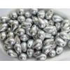 6x9mm Čehu stikla lāsītes Metallic Silver 25gab.