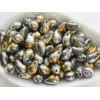 6x9mm Čehu stikla lāsītes Metallic Silver Marea 25gab.