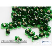 3x6.5mm Farfalle Chrysolite silver lined (25g)
