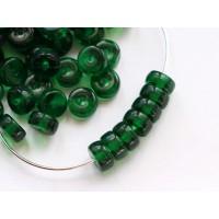 6x3mm Heishi pērlēs Chrysolite Green 50gab.