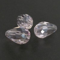 10x15mm Faceted Drop Roza