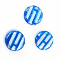 "12mm Čehu pērle Tablete Zila ""Varavīksne"" 1gab."
