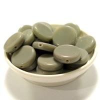 12mm Čehu pērle Tablete Pelēka