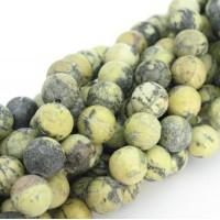 12mm Dzeltenā tirkīza pērle