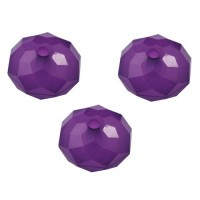 13mm Slīpeta Rondo Purpura 10gab.