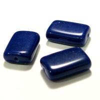 15x10mm Čehu stikla Kantainas perlēs tumši Zila 1gab.