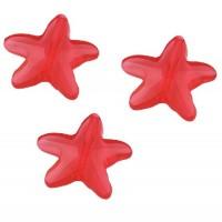 20mm Slīpeta Zvaigzne Sarkana 10gab.