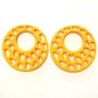 50mm Acrylic Pandant Yellow, 2gab.