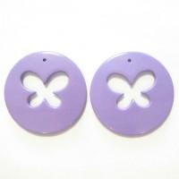50mm Acrylic Pandant Butterfly Lilac, 2gab.