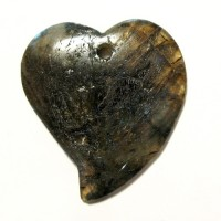 ~50mm Labradorite Heart Pendants