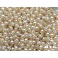 3mm Apaļa Crystal Pearl 100gab.