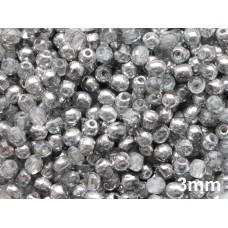 3mm Apaļa Crystal Silver 100gab.