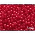 3mm Apaļa Milky Red 100gab.