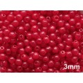 3mm Druk Round Milky Red 100pcs