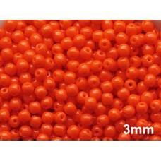 3mm Apaļa Orange 100gab.
