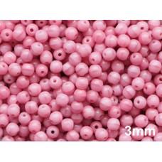 3mm Apaļa Coral Pink 100gab.