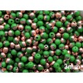 3mm Apaļa Green Copper 100gab.