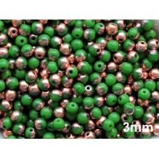 3mm Apaļa Green Copper 100gab.