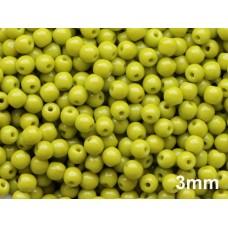 3mm Apaļa Olivine Green 100gab.