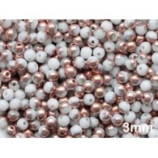 3mm Apaļa White Copper 100gab.