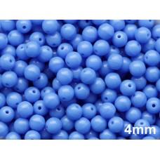 4mm Apaļa Sapphire Blue 100gab.