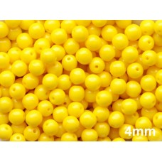 4mm Apaļa Yellow 100gab.